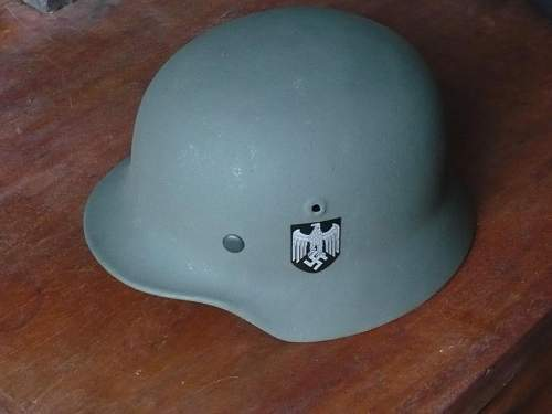 M40 - first helmet, restored (sorry!)