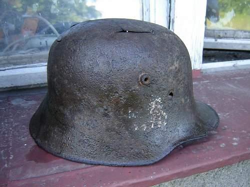 Danzig Police M18 helmet -ground dug