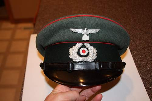 Tricks to restoring shape to aThird Reich peaked cap?