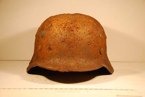 HELP!-Cleaning German double decal helmet