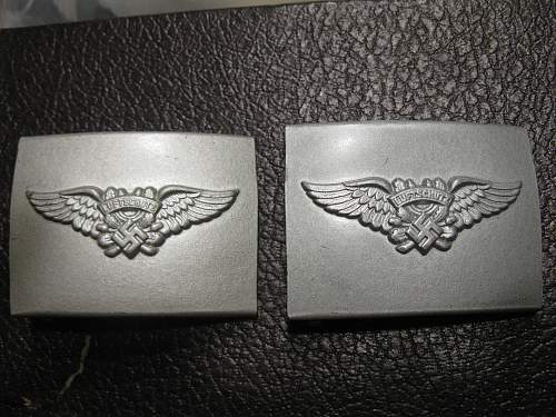 two luftshutz buckles from a grouping