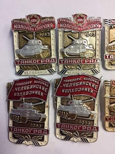 Tankograd Commemoration Badges