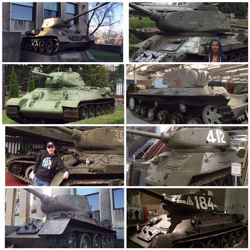 Soviet T-34s I have photographed around Europe