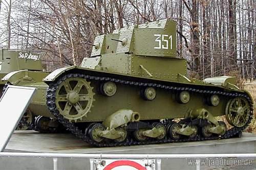 T-26 light Soviet tank