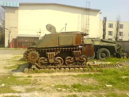 Half of a Russian Sherman
