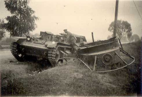 Soviet Russian T 28 tanks destroyed and abandoned by Red Army