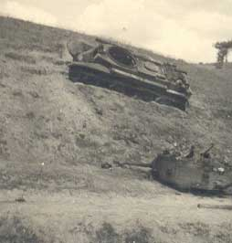 Soviet Russian BT type tanks, abandoned / destroyed