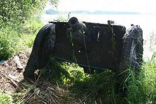 """""""Ratsh-bum"""" obr 27, 76 mm gun"""