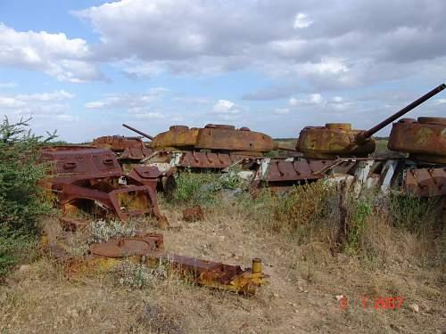 t34 graveyard in deep africa