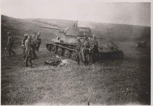 """T 34 tank """" Kotovskiy"""" destroyed with the crew in the Kursk area"""
