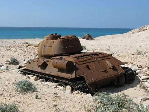 Soviet Tank in Socotra, Republic of Yemen