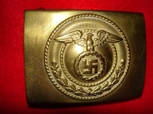 SA Buckles (Brass and Nickel) Upright Swastika