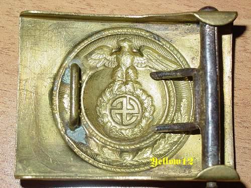 SA Buckle with Sun Wheel Swastika