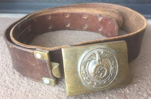 slim SA youth buckle with belt