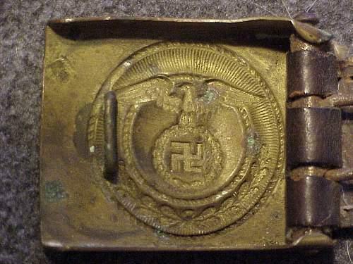 An Interesting SA Buckle w/Upright Swastika & Dated Tab