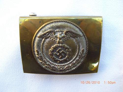 SA brass buckle - is it a fake?