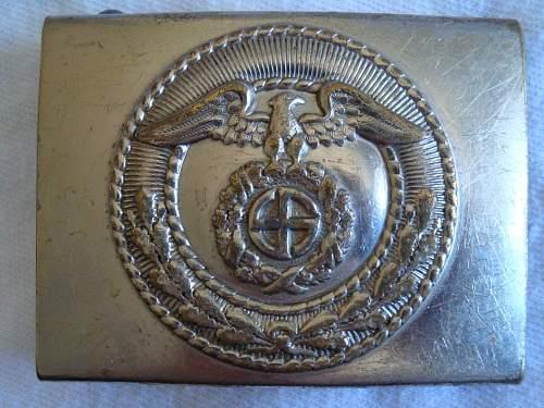 SA Buckles (Nickel) Sun Wheel Swastika