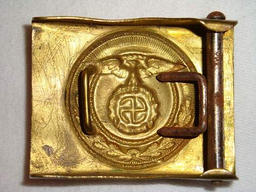 SA Buckles (Brass) Sun Wheel Swastika