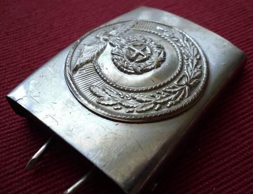 Silver SA two piece buckle