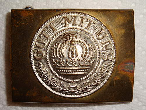 Interesting O&C ges. gesch. Marked Buckle