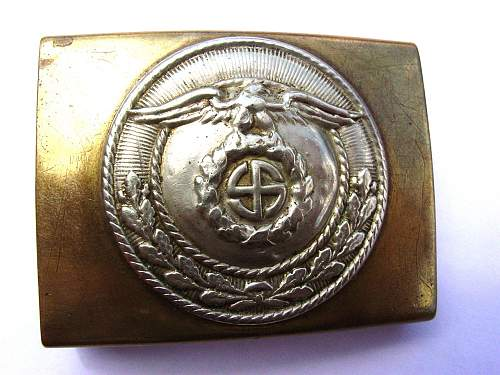 SA Brass Buckle with Sun Wheel Swastika!