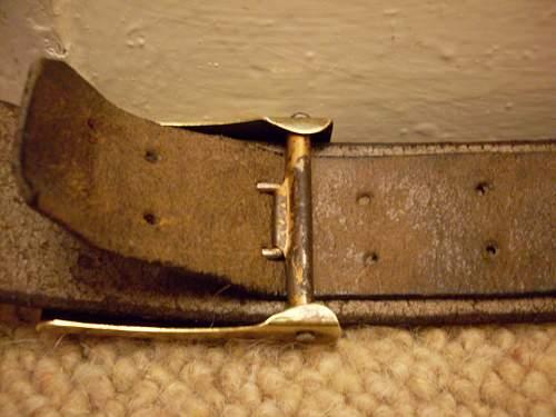 SA (sunwheel) buckle and RZM belt.