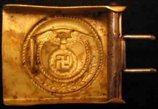 SA Buckles (Brass and Nickel) Upright Swastika
