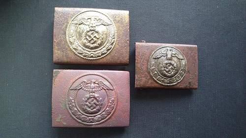 Three SA buckles