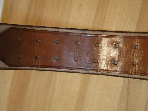 1936/37 Brown RZM Belt - Near Mint