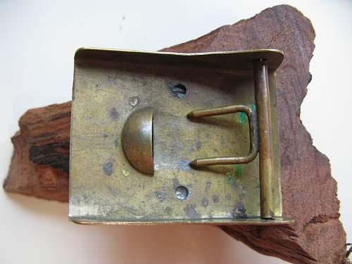 SA Buckles (Brass) Sun Wheel Swastika