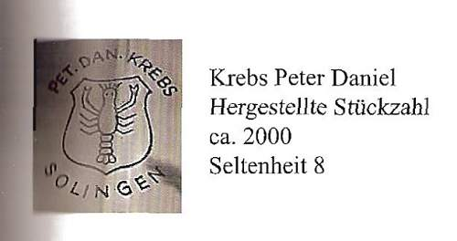 Pet.dan. Krebs sa - plated blade