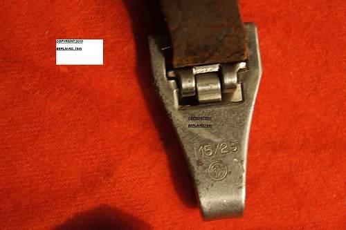 MY GI RETURN SA DAGGER with hanger,RZM M7/85,ID