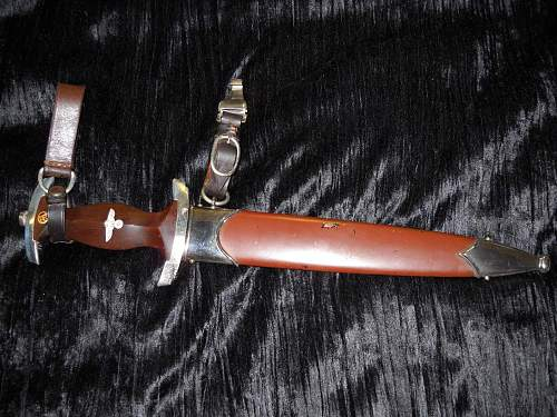 Third Reich SA Dagger.....2 Leather Straps...Rare ,I've Heard!