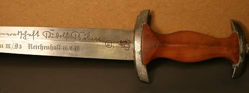 Inscribed SA dagger