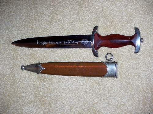SA full inscription Rohm dagger by Henckles