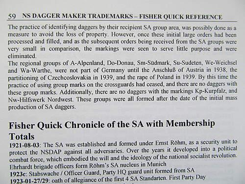 SA Dienstdolch group markings