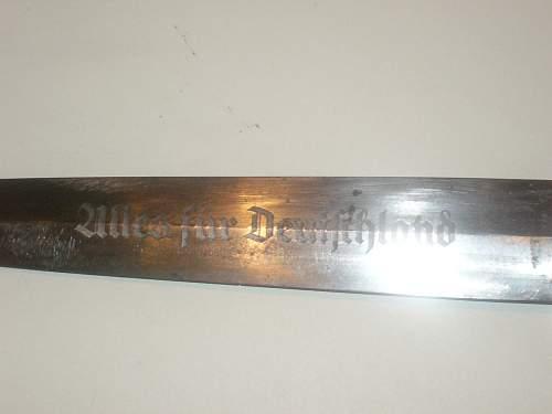 denazified SA dagger - real or fake?