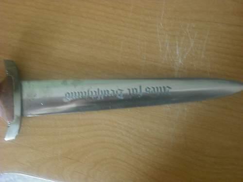 SA Dagger---Ground motto?