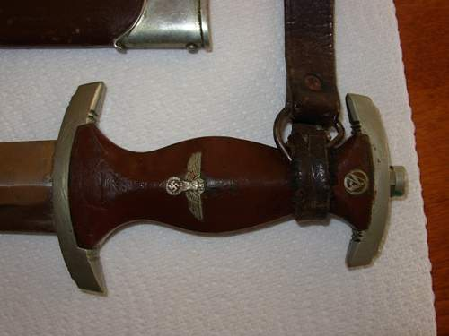 SA / SS scabbard throat removal