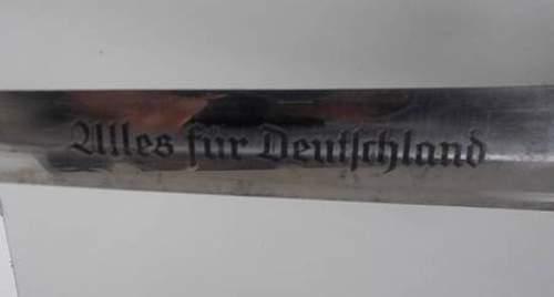 """SA Dagger """"Th"""" marked"""