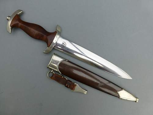 Gorgeous early Malsch & Ambronn Dienstdolch with perfect Tiger grip