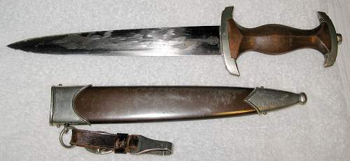 SA Dagger with Remnants of Rohm Inscription