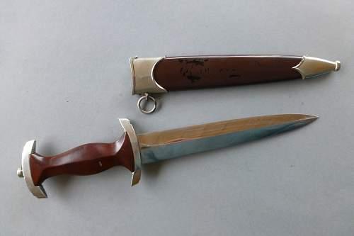 Rare RZM SA Dagger by RZM M/7 83  Richard Pluemacher Sohn
