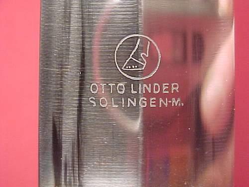 SA Dagger   Otto Linder