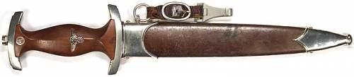SA Dagger with  engraved dedication