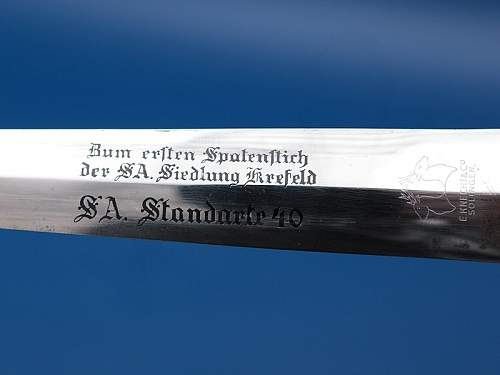 SA-dagger, early model, Knecht Solingen