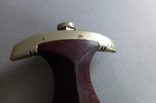 Early SA dagger by F.Dick with  tigerstriped grip