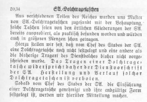 Click image for larger version.  Name:SA Dolchtragetaschen 1934.jpg Views:46 Size:125.3 KB ID:977765