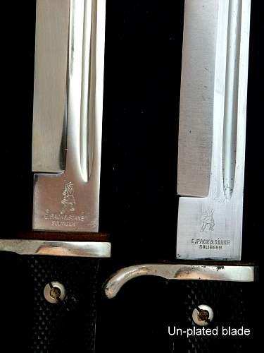 Dress Bayonet- E.Pack W/Un-plated Blade