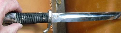 A Tired WKC parade bayonet.